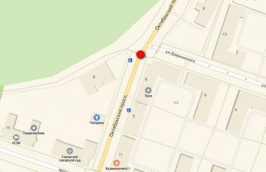 «Рено» наехал на пешехода на Октябрьском проспекте