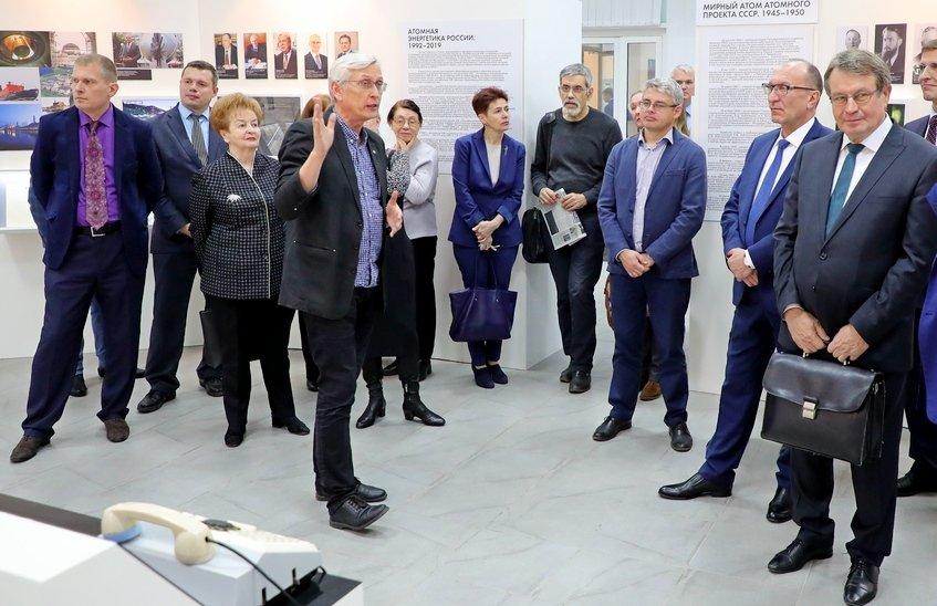 Валентин Костюков принял участие в открытии выставки «Творцы атомного века»