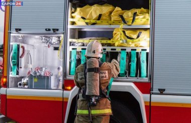 Пожар произошел в квартире на улице Курчатова
